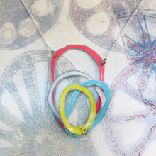 Load image into Gallery viewer, Reversible Scribbles Upcycled Tin Necklace