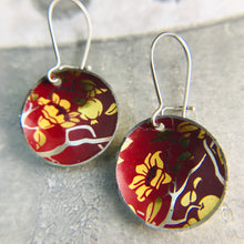 Load image into Gallery viewer, Pomegranate Blossoms Upcycled Tiny Dot Earrings