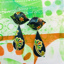 Load image into Gallery viewer, Mixed Flower Patterns Ogee Zero Waste Tin Earrings