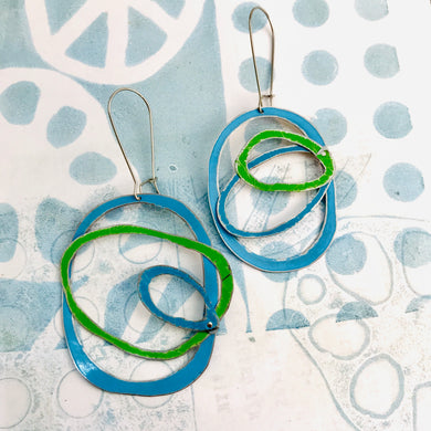 Cool Scribbles Upcycled Tin Earrings