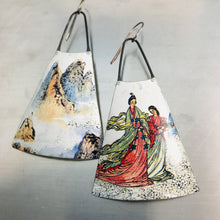 Load image into Gallery viewer, Mountain Offerings Zero Waste Tin Long Fans Earrings