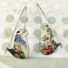 Load image into Gallery viewer, Wildflower Birds on a Wire Upcycled Tin Earrings