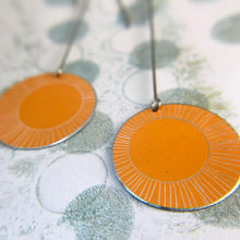 Load image into Gallery viewer, Dreamsicle Hand Etched--Drop Earrings