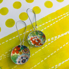 Load image into Gallery viewer, Allover Flowers Medium Basin Earrings