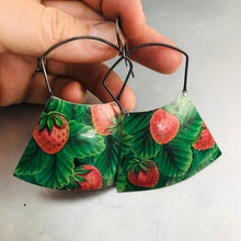 Load image into Gallery viewer, Strawberry Fields Large Zero Waste Tin Earrings
