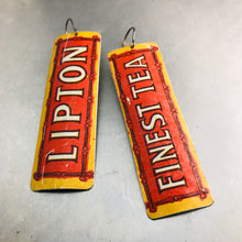 Load image into Gallery viewer, Lipton Finest Tea Upcycled Tin Earrings