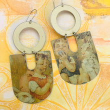Load image into Gallery viewer, Grumpy Bunnies Chunky Horseshoes Zero Waste Tin Earrings