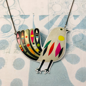 Mod Songbird Recycled Tin Necklace