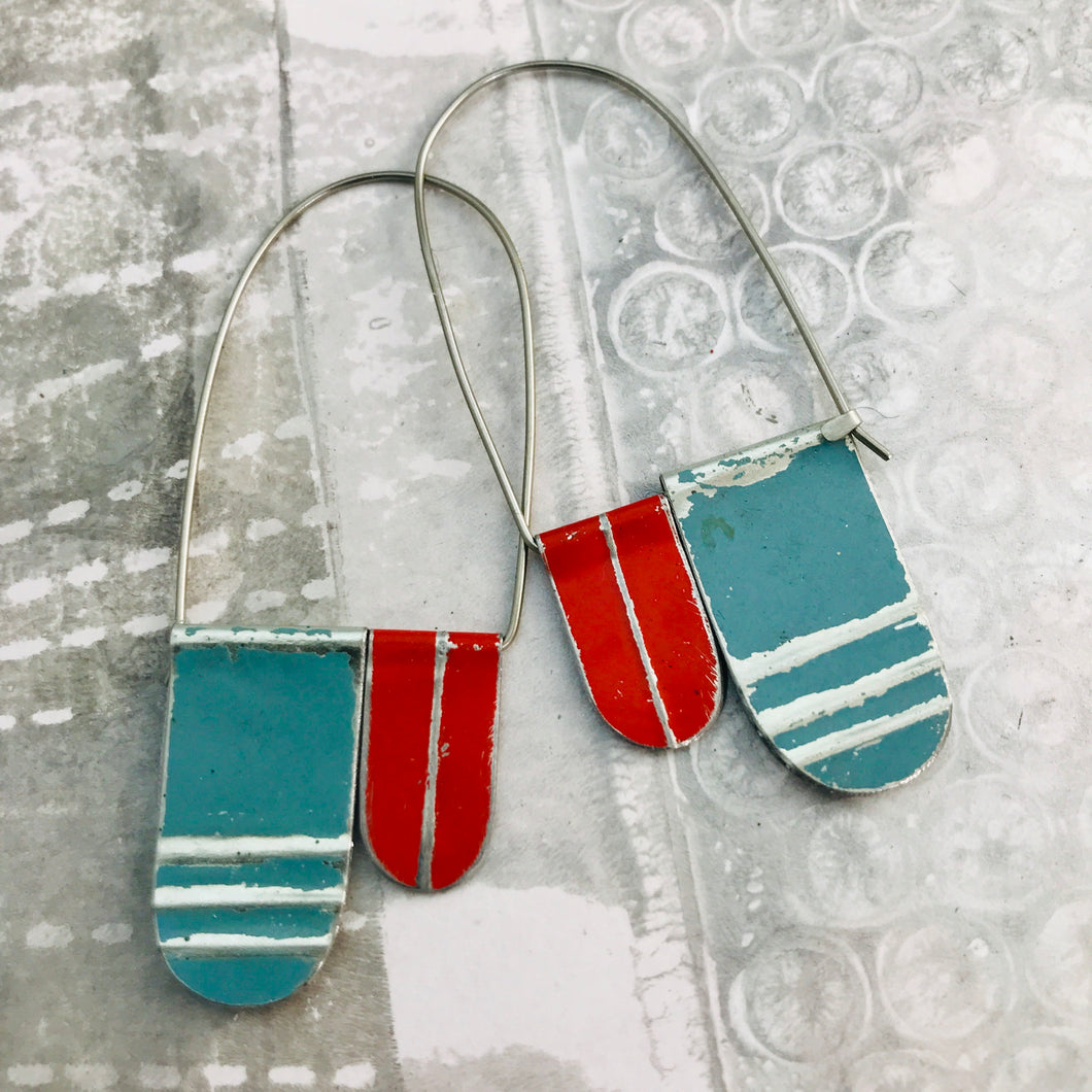 Slate & Scarlet Arch Dangle Tin Earrings