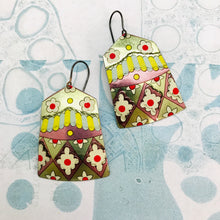 Load image into Gallery viewer, Santa Fe House Shape Golden Tin Earrings