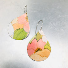 Load image into Gallery viewer, Upcycled Teardrop Tin Earrings