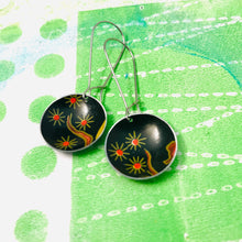 Load image into Gallery viewer, Fireworks Blossoms Medium Basin Upcycled Earrings