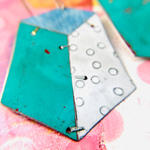 Load image into Gallery viewer, Edifice Turquoise Upcycled Tin Earrings