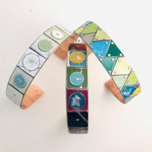 Load image into Gallery viewer, All Whites Upcycled Tesserae Tin Cuff