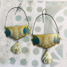 Load image into Gallery viewer, Vintage Draping Zero Waste Tin Earrings