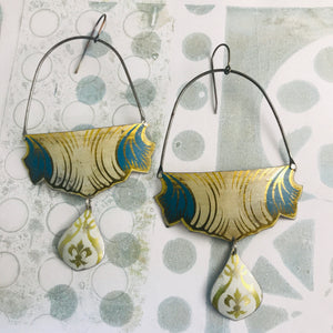 Vintage Draping Zero Waste Tin Earrings