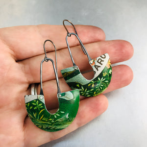 Grassy Green Little Us Upcycled Tin Earrings