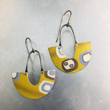 Load image into Gallery viewer, Mod Golds & Slate Little Us Upcycled Tin Earrings
