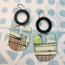 Load image into Gallery viewer, Architectural Renderings Chunky Horseshoes Zero Waste Tin Earrings