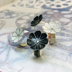 White Flower Upcycled Tin Ring