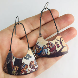 Disney's Seven Dwarves Recycled Tin Earrings