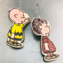 Load image into Gallery viewer, Ex Libris Charlie Brown Upcycled Book Jewelry by Christine Terrell for adaptive reuse jewelry