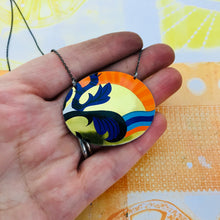 Load image into Gallery viewer, Ocean Sunset Zero Waste Tin Necklace