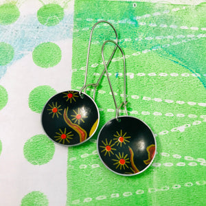 Fireworks Blossoms Medium Basin Upcycled Earrings