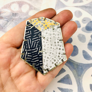 Edifice 4 Upcycled Tin Brooch/Necklace