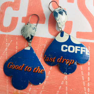 Good to the Last Drop Trefoil Upcyled Tin Earrings