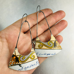 Vintage Cracker Box Recycled Tin Earrings