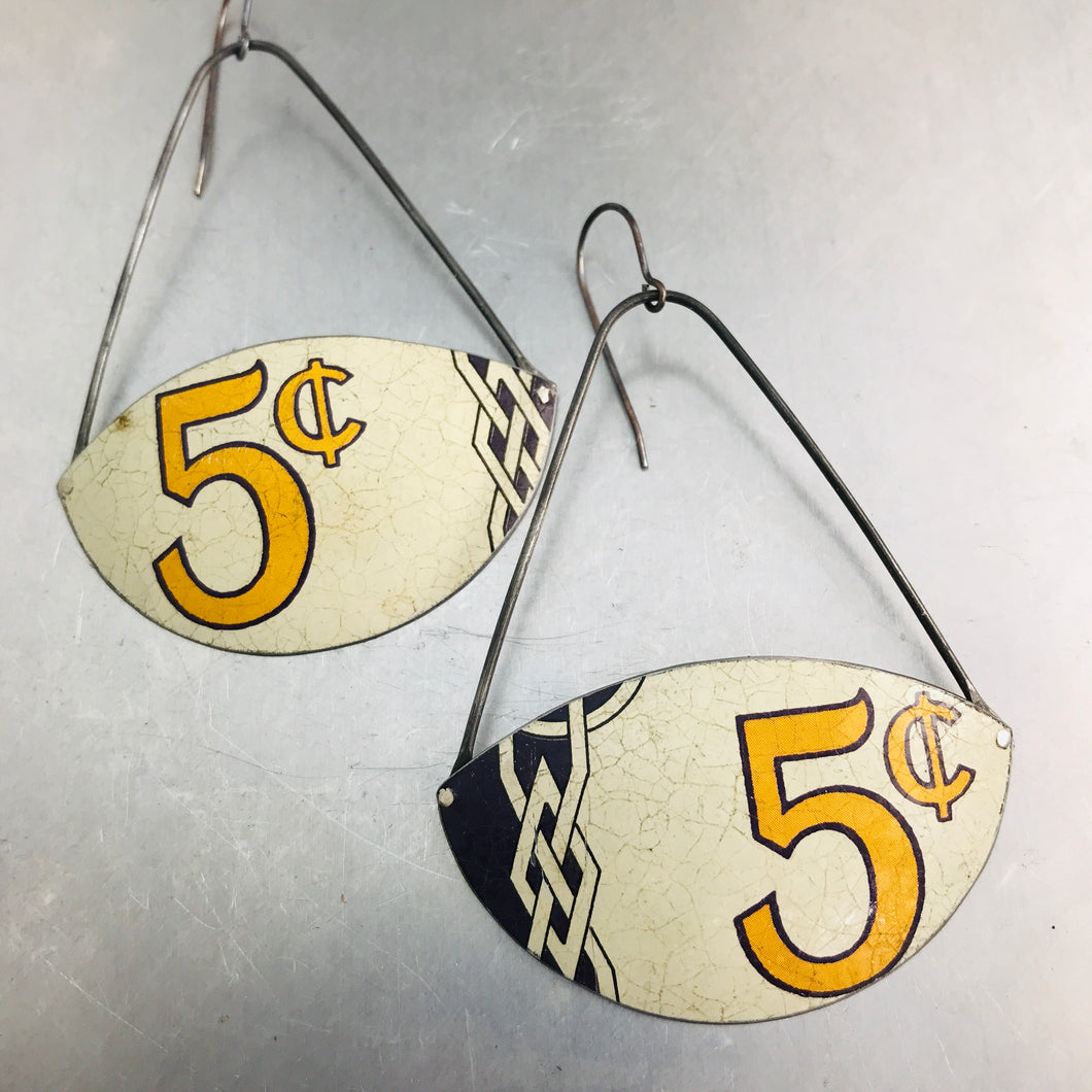 5¢ Recycled Tin Earrings