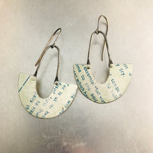 Load image into Gallery viewer, Distressed Instructions Little Us Upcycled Tin Earrings