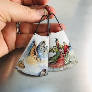 Mountain Offerings Zero Waste Tin Long Fans Earrings