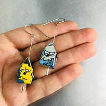 Load image into Gallery viewer, Simpson's Characters Tiny Tin Birdhouse Earrings