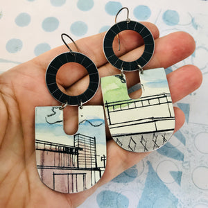Architectural Renderings Chunky Horseshoes Zero Waste Tin Earrings