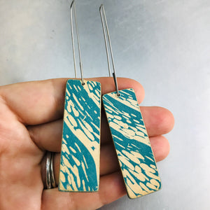 Water Texture Recycled Book Cover Earrings