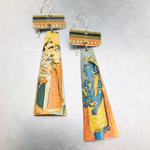 Load image into Gallery viewer, Persian Illustrations Tin Zero Waste Earrings Ethical Jewelry