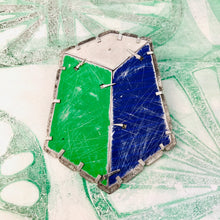 Load image into Gallery viewer, Edifice 6 Upcycled Tin Brooch/Necklace