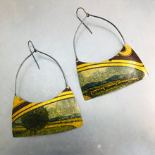 Load image into Gallery viewer, Landscape Wide Arch Tin Earrings