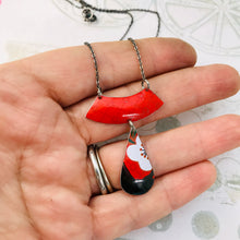 Load image into Gallery viewer, Cherry Blossom Teardrop Zero Waste Tin Necklace