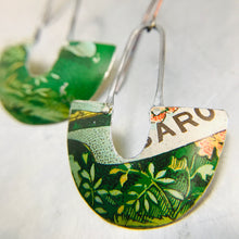 Load image into Gallery viewer, Grassy Green Little Us Upcycled Tin Earrings