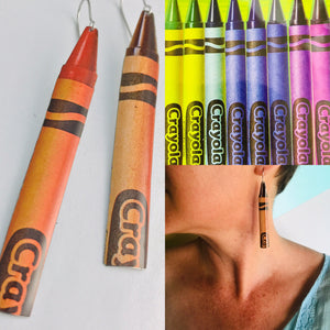 Crayola Crayons Zero Waste Tin Earrings