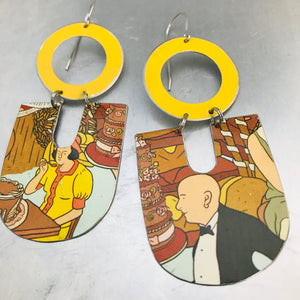 Let Them Eat Cake Chunky Horseshoes Zero Waste Tin Earrings