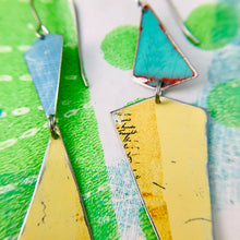 Load image into Gallery viewer, Butter & Seas Small Narrow Kites Recycled Tin Earrings