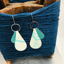 Load image into Gallery viewer, Peekaboo Drops Avon Seafoam Zero Waste Tin Earrings