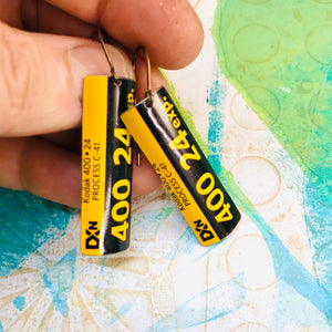 Kodak 24 Exposure Narrow Rectangle Tin Earrings