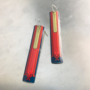Formal Long Rectangle Tin Earrings