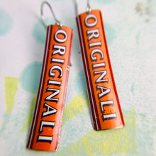 Load image into Gallery viewer, Originali Narrow Rectangle Tin Earrings