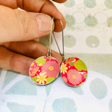 Load image into Gallery viewer, Flowery Pinks Medium Basin Earrings